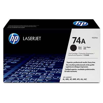 hp 74a 92274a hp 4l toner cartridge genuine new. Black Bedroom Furniture Sets. Home Design Ideas